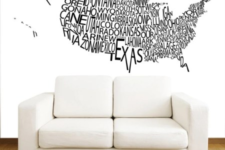 united states us map wall decals country words wall vinyl