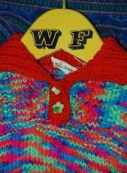 multicoloured floral jumper