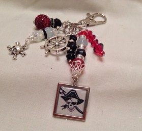 Pirates of the Caribbean inspired zipper pull/backpack decoration/purse charm!