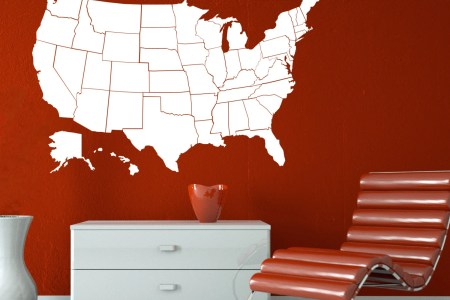 wall decal united states map wall decal by zapoart on etsy