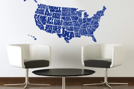united states us map wall decals country words wall by