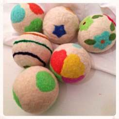 felted wool dryer balls from etsy