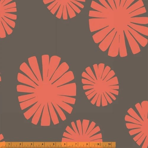 Lotta Jansdotter Fabric - Follie - Mickel Coral Blush