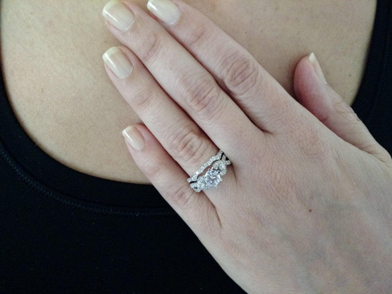 infinity split shank diamond engagement infinity diamond wedding band zoom