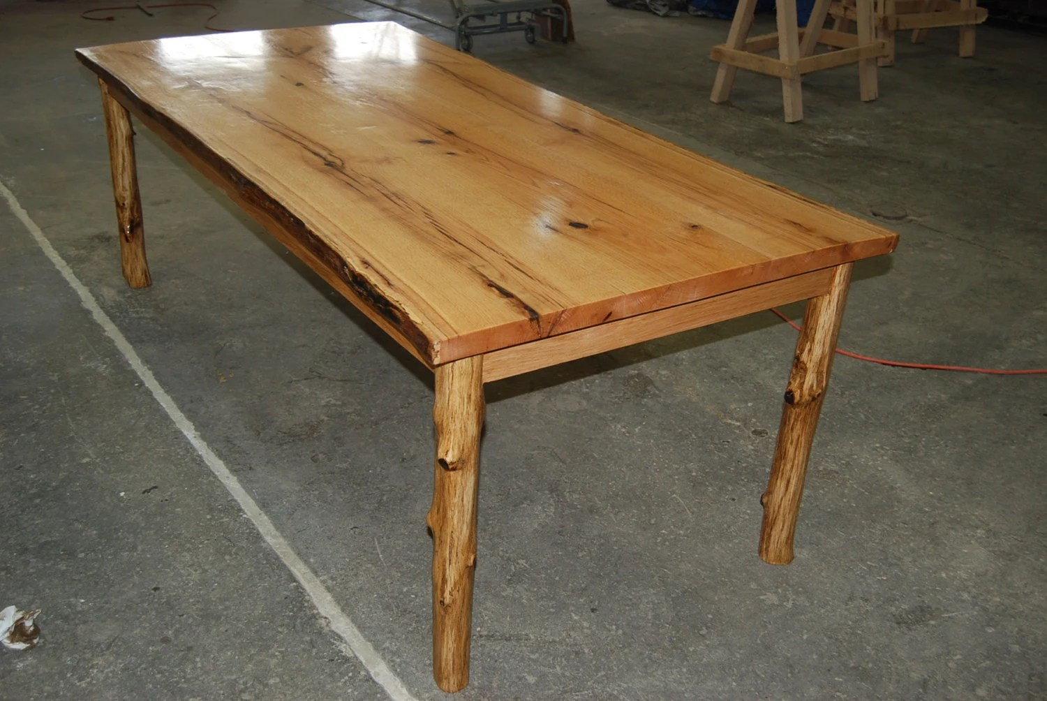custom live edge dining table made from red kitchen table zoom