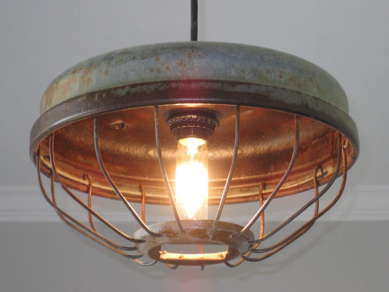 industrial chicken feeder pendant vintage kitchen lighting zoom