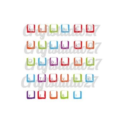 Digitale file toetsenbord alfabet SVG Leuk om zelf woorden te maken voor kleding, muren, posters, .. SVG voor Cameo Cricut Brother etc