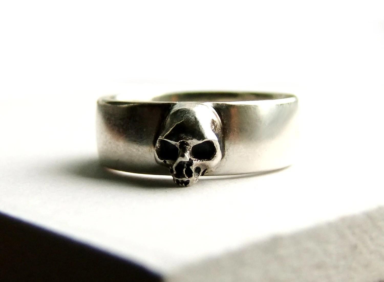 skull wedding ring grooms skull ring mens skull wedding rings Skull Wedding Ring Grooms Skull Ring Goth Groom Ring Skull Wedding Pair Small Mens Skull Ring Psychobilly Wedding Band Wedding Set All Sizes