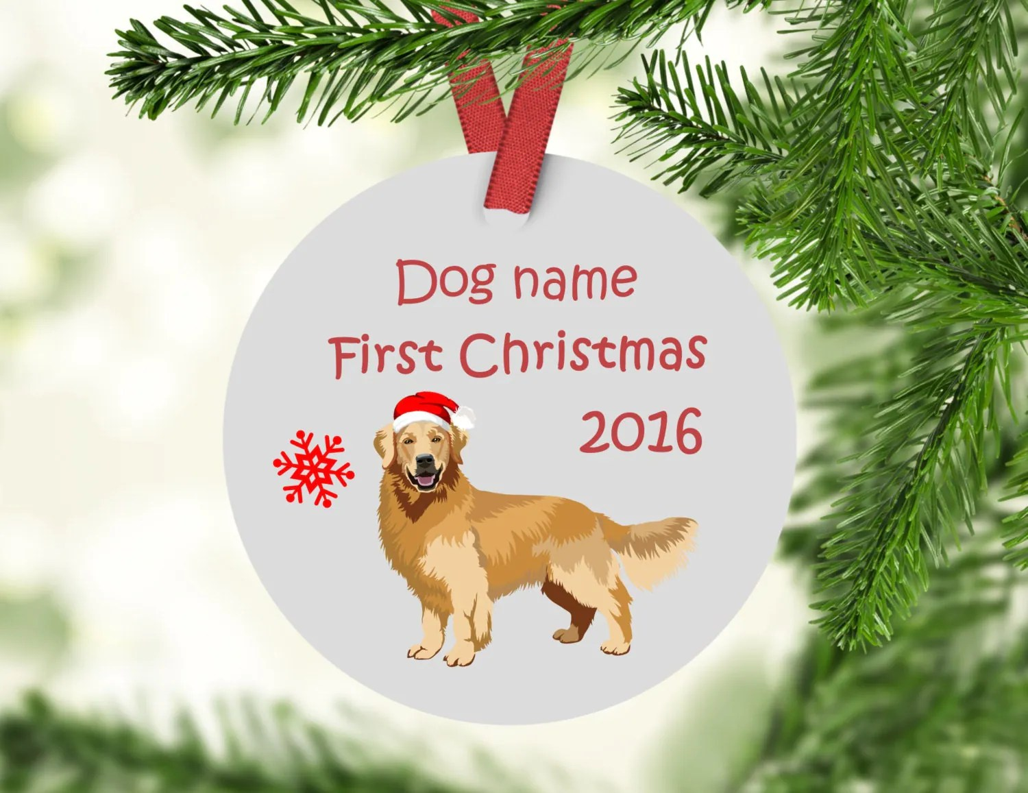 Glomorous Gen Retriever Ornament Personalized Dog Ornament Porcelain Retrievers Ornament Ceramic Gen Retriever Decorations Living Life One Gift At A Time decor Personalized Family Christmas Ornaments