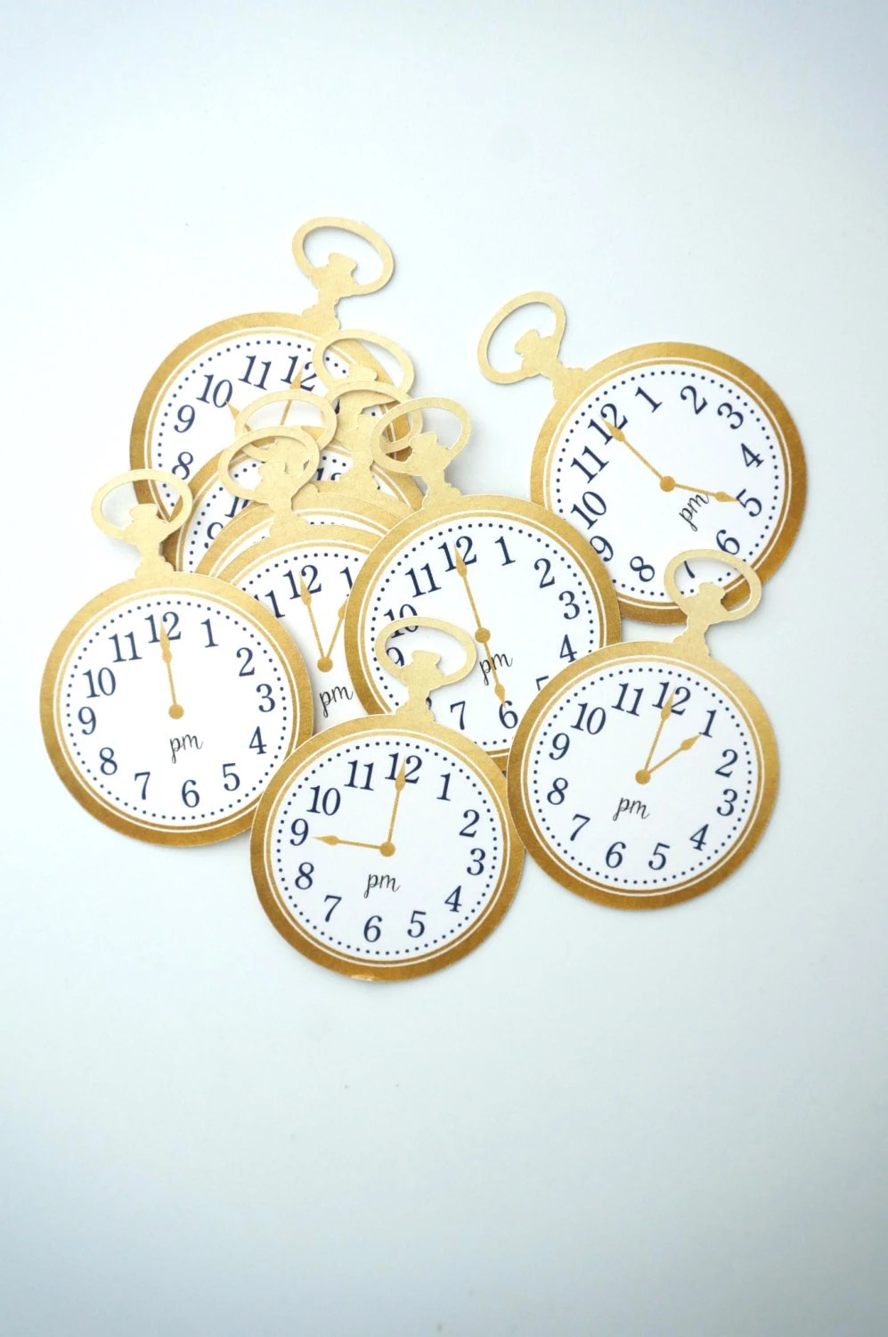 24 Gold Clock Tags - Arou...