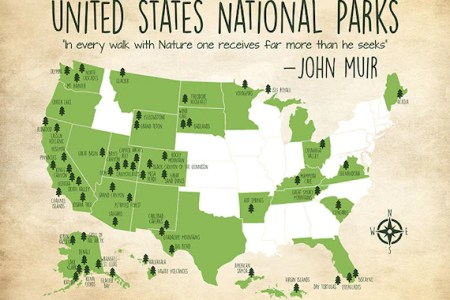 national parks map custom colors united states map with all