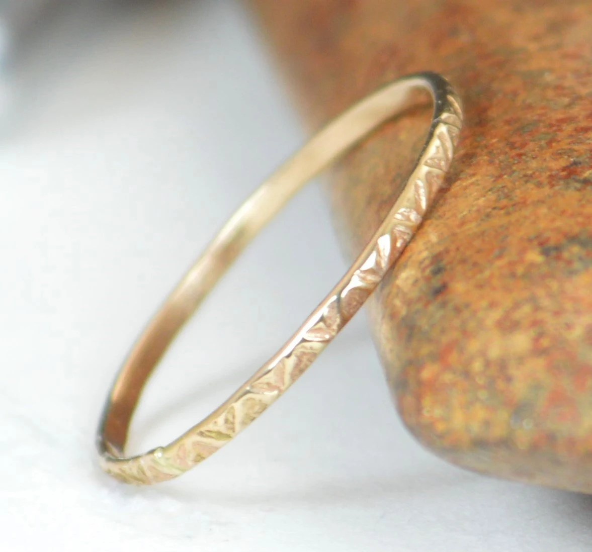 14k gold bohemian ring rustic wedding bohemian wedding rings 14k Gold Bohemian Ring Rustic Wedding Ring Thin Gold Ring Dainty 14k Gold Ring Ring Gold Boho Ring Rustic Gold Rings Gold Band A19