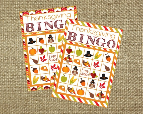 Thanksgiving Bingo Game! Includes 12 game cards, calling cards, and call sheet. Instant Digital Download