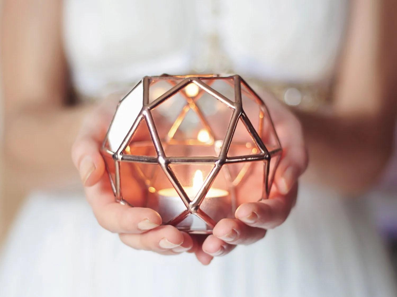 wedding ring holder wedding ring holder Glass Geometric Candle Holder Wedding Lights Copper Home Decor Wedding Favors Tealight Votive Holder Ring Bearer Box Glass Hurricanes