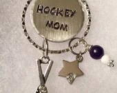 Personalized, Hand Stamped,Hockey Mom Necklace