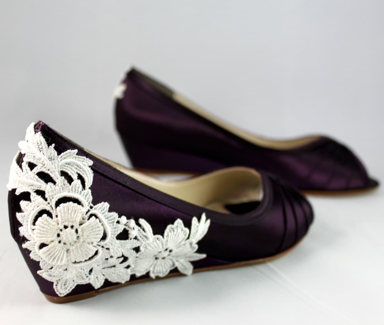 wedding shoes wedge low heel 1 inch wedding wedge shoes zoom