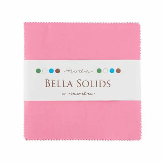 CHARM SQUARES - Bella Solids - Pink
