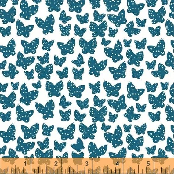Lotta Jansdotter Fabric - Lilla - Minna in Azur