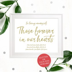 Stupendous Our Hearts Quote Those Forever Memorial Wedding Loving Memory Our Heartscustom Memorial Wedding Loving Memory Our Hearts Sayings Forever Our Forever Those Forever art Forever In Our Hearts