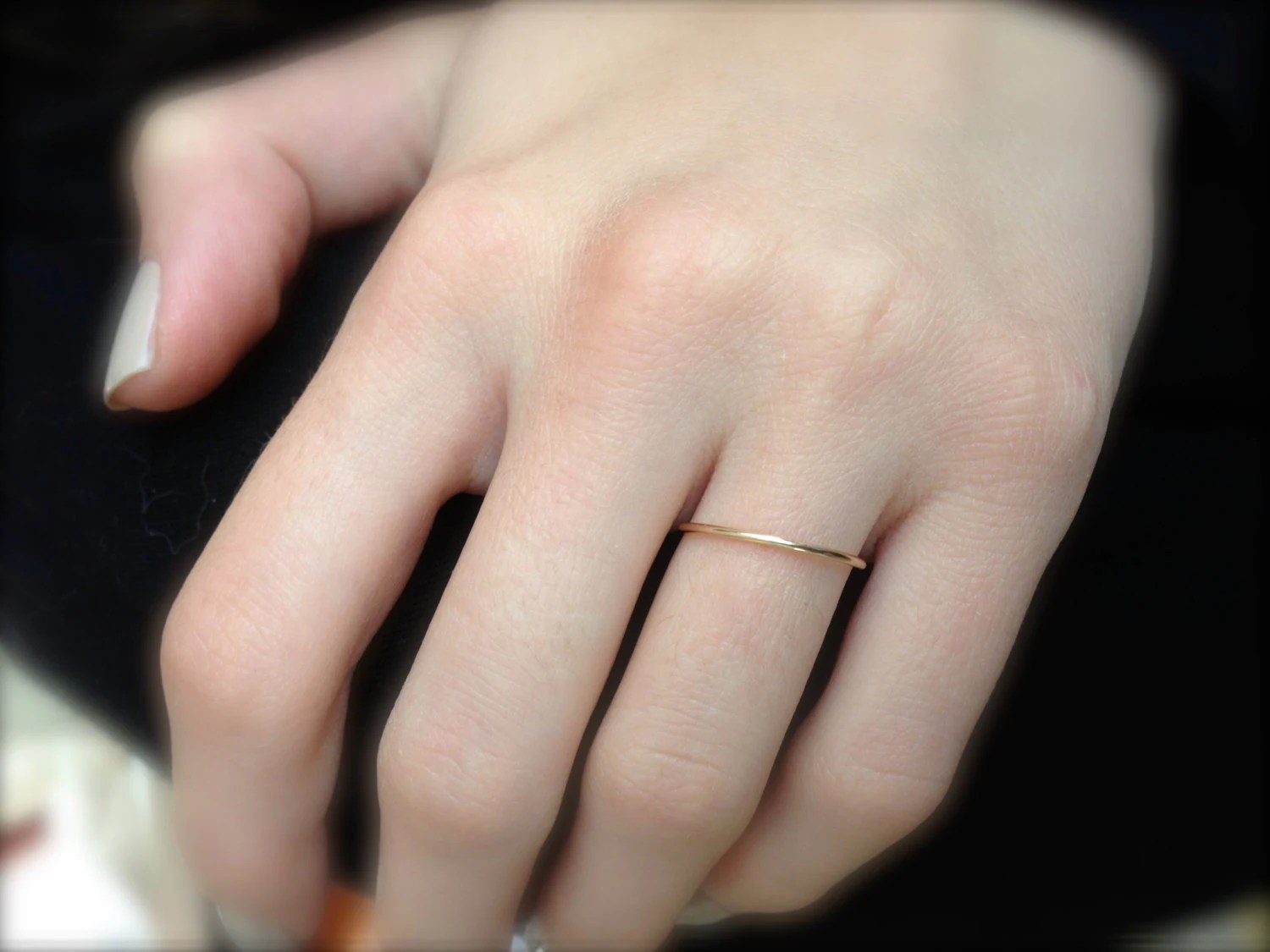 very thin rose gold band thin wedding wedding ring spacer Very Thin Gold Wedding Band solid 14k YELLOW Gold Handmade 1mm Fully Round full halo Plain Simple Skinny Dainty Stacking Band Spacer Ring