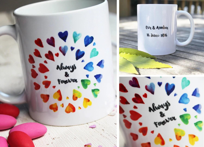 lesbian couple lesbian wedding ideas Lesbian Girlfriend Gift Mrs and Mrs Mugs Personalized Couples Mugs Lesbian Wedding Couple Mug Gay Wedding gift Personalised Anniversary