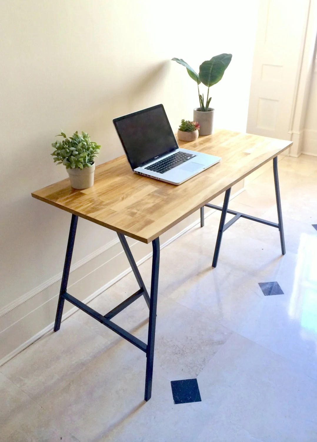 small kitchen table small kitchen table Long Narrow Desk Table on Ikea Legs CHOOSE ANY SIZE