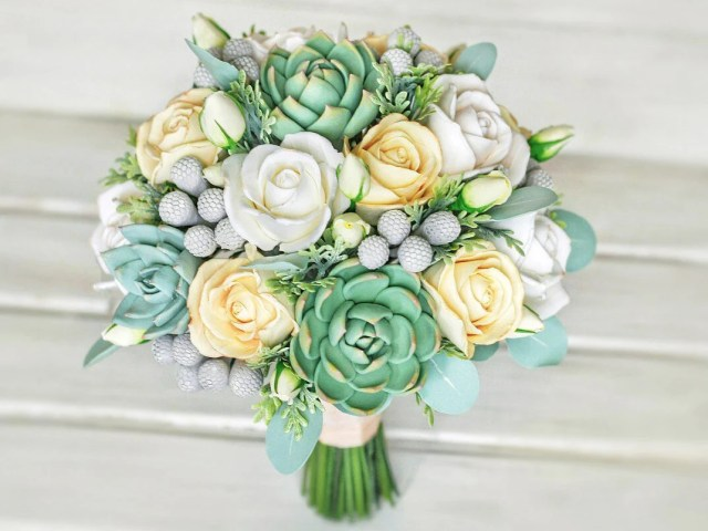 Succulent wedding bouquet...