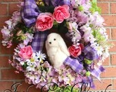 SALE Easter Wreath, Bunny...