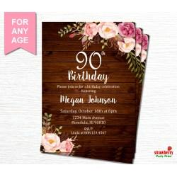 Small Crop Of 90th Birthday Invitations