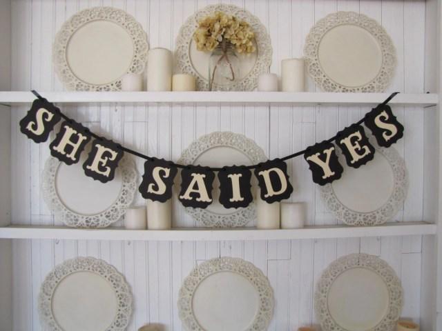 SHE SAID YES Banner, Wedd...