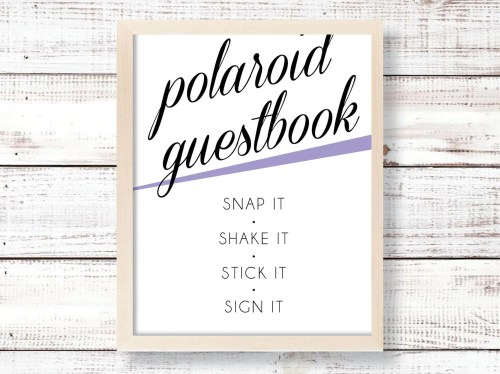 Graceful Wedding Polaroid Guestbook Whimsical Wedding Polaroid Guestbook Whimsical Polaroid Guest Book Baby Shower Polaroid Guest Book Etsy