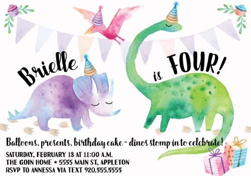 Cordial Dinosaur Birthday Party Invitation Girl Dinosaur Party Girly Dinosaur Birthdayinvitation Digital Dinosaur Birthday Party Invitation Girl Dinosaur Party Girly