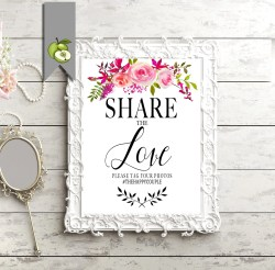 Cosmopolitan Share Love Printable Wedding Photo Wedding Share Love Printable Wedding Photo Wedding Where To Put Wedding Hashtag Sign Create Wedding Hashtag Sign