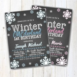 Small Of Winter Onederland Invitations