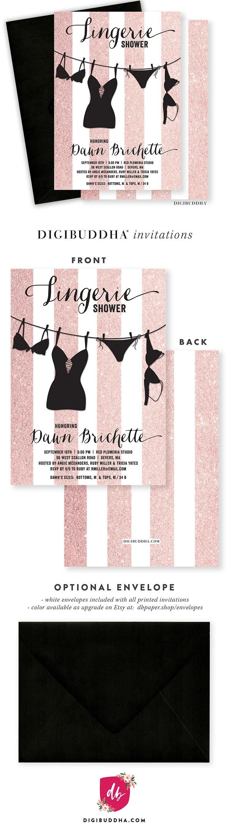 Large Of Lingerie Shower Invitations