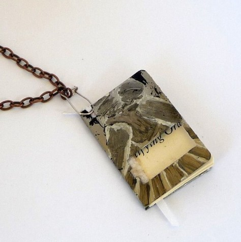 Dr. Who Angel Crying Book Pendant, by The Littlest Bookshop