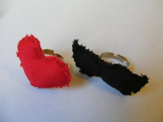 Ring  Heart or Mustache