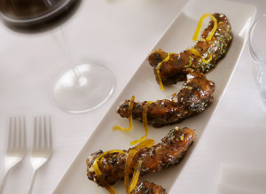 Meetha achaar Canadian spare ribs with sun dried mango (Image courtesy: Indian Accent)