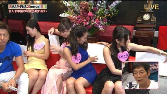 【放送事故画像】テレビで映ってる有名人のパンツが見たい人集合!! 05