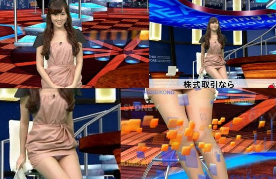 【放送事故画像】お姉ちゃんパンツ見えてる~wテレビにはっきり映ったパンチラ画像! 18