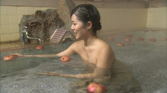 【入浴キャプ画像】際どいシーン満載の温泉レポ!いつポロリしてもおかしくないぞww