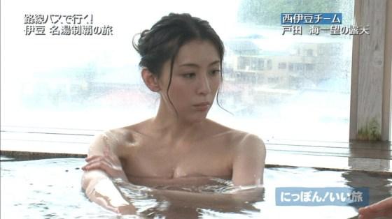 【温泉キャプ画像】お宝満載な温泉レポ!バスタオルからはみ出る巨乳に釘付けww 19