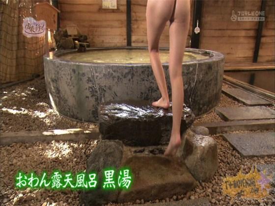 【お宝エロ画像】美女の脱衣シーンから、お尻丸出しでテレビに出ちゃう有能番組もっと温泉に行こう! 28