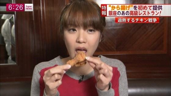 【擬似フェラキャプ画像】女子アナやアイドルのフェラ顔が映される食レポってじわじわ来るなwww 12