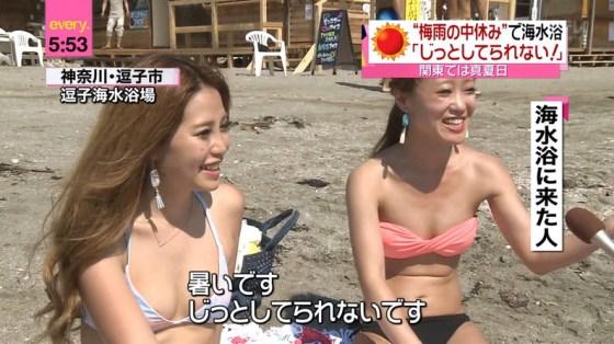 【水着キャプ画像】テレビで水着美女が映ってたら間違いなくポロリ期待するよなw 15