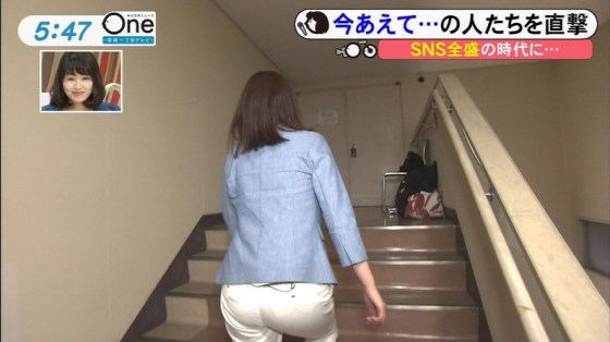 【お尻キャプ画像】女子アナの綺麗なヒップラインが丸わかりのピタパンお尻がエロッww 12