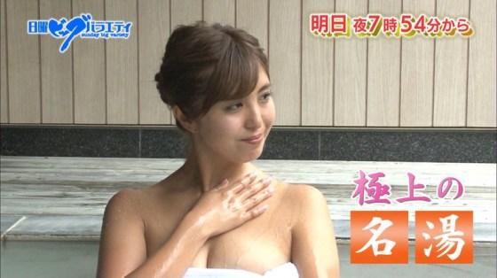 【温泉キャプ画像】テレビでオッパイ半分さらけ出した美女達の入浴姿を見てやってくれwww
