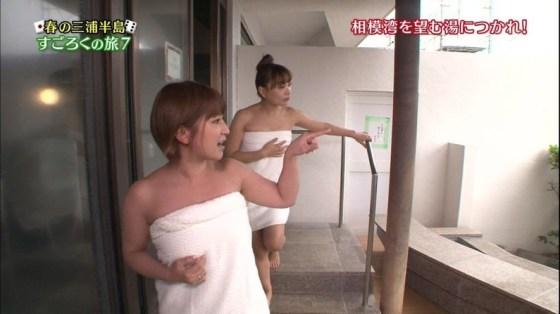 【温泉キャプ画像】テレビでオッパイ半分さらけ出した美女達の入浴姿を見てやってくれwww 24