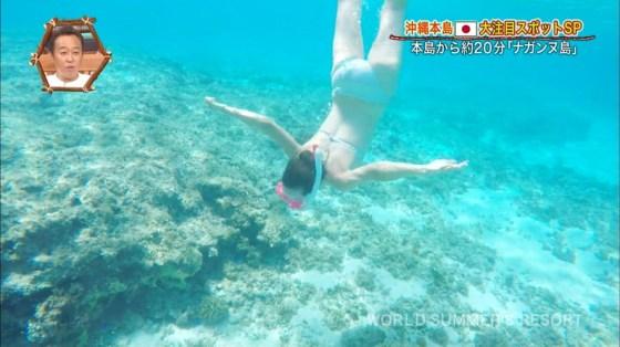 【お尻キャプ画像】テレビで水着からはみ出してる尻肉がめちゃシコww 15