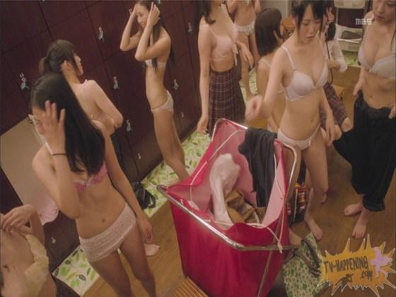 【お宝エロ画像】監獄学園第3話!脱衣シーンで女の下着姿映りまくりww 08